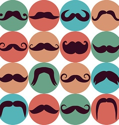 Moustaches set Design elements Seamless pattern vector image