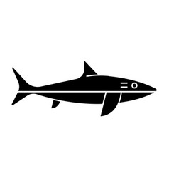 shark icon black sign on vector image