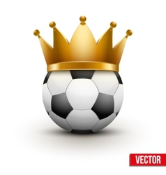 Soccer ball with royal crown vector image vector image