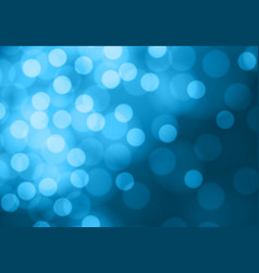abstract bokeh light on soft blue background vector image