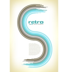 abstract retro disco background vector image