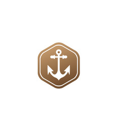 anchor for boat and yacht logo design in the vector image