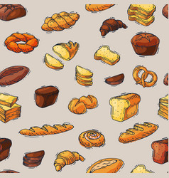 Bakery and bread baking breadstuff meal vector