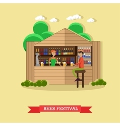 Beer festival concept people vector