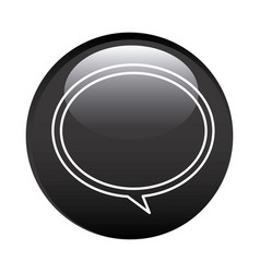 Black circular frame with speech bubble icon vector