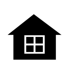 Black house with white windows graphic vector
