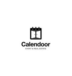 calendar and doo logo design concept vector image
