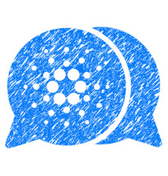 Cardano chat icon grunge watermark vector