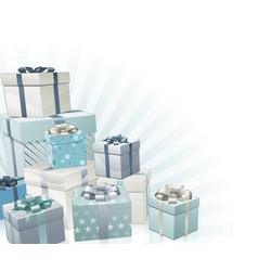 Christmas gifts corner element vector