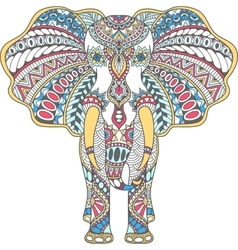 color decorated Indian Elephant vector image