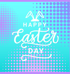 colorful happy easter greeting card background in vector image