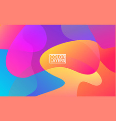 colorful shapes trendy abstract background vector image