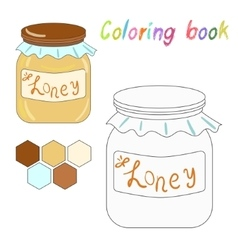 Coloring book honey kids layout for game vector