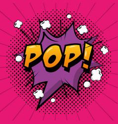 comic pop art speech bubble vector image