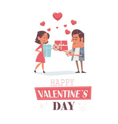 couple in love girlfriend and boyfriend holding vector image