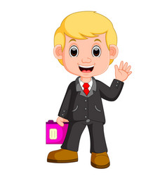 cute businessman cartoon vector image