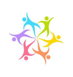 dance circle geometrical form symbol design vector image