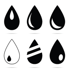 drop set in black and white color vector image
