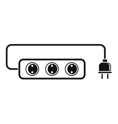 extension cord icon simple style vector image