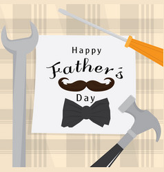 cedc7f93d9e9 Father day poster with a tools and bow tie vector ...