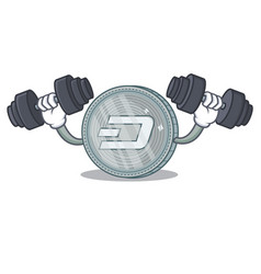 Fitness dash coin character cartoon vector