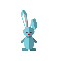 flat funny cute rabbit vector image