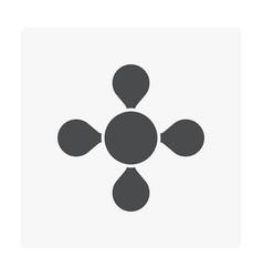 Gas molecule icon vector