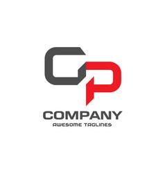 gp letter logo design vector image