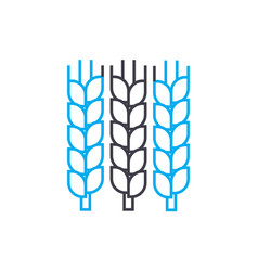grain growing linear icon concept grain growing vector image