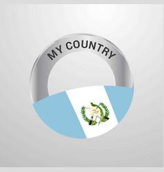 guatemala my country flag badge vector image