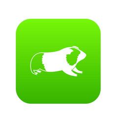hamster icon digital green vector image