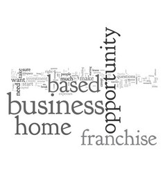 home based franchise opportunity business vector image