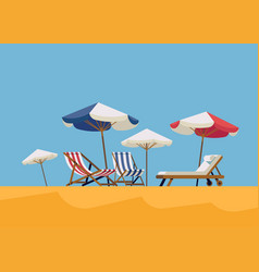 hot summer vacation background vector image