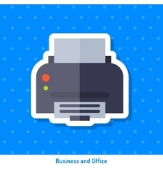 Icon of office printer vector