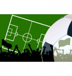 Illustration of a soccer field vector