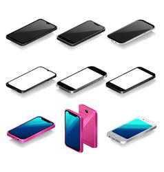 Isometric smartphone mockup vector