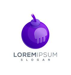 Jelly bomb logo icon ready to use vector