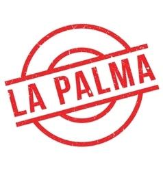 La Palma rubber stamp vector image
