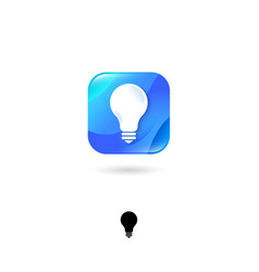light bulb ui icon idea emblem energy saving sys vector image
