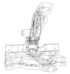 Mitre saw blade concept vector