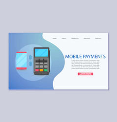 mobile payment and near field communication vector image