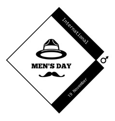 mustache men day icon simple style vector image