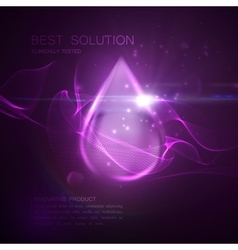 Oil essence purple droplet vector