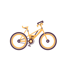orange mountain bike modern bicycle vector image