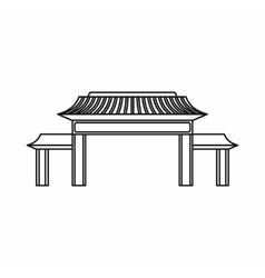 Pagoda icon outline style vector