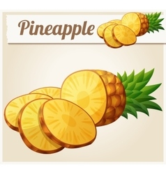 Pineapple ananas fruit cartoon icon vector