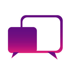 Purple square chat bubbles icon vector