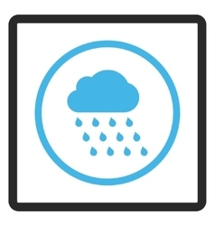 Rain Cloud Framed Icon vector