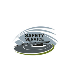 Road safety service isolated icon template vector