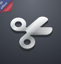 Scissors hairdresser Tailor icon symbol 3D style vector